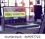 video marketing concept.... | Shutterstock . vector #369057722