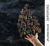the art of numerology   female... | Shutterstock . vector #369059342