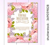 vintage delicate invitation... | Shutterstock .eps vector #369059828