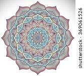 mandala  vector mandala  floral ... | Shutterstock .eps vector #369061526