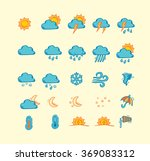 collection of hand drawn... | Shutterstock .eps vector #369083312
