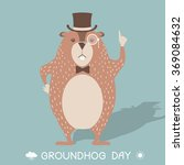 Happy Groundhog Day Card...