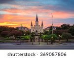 saint louis cathedral and... | Shutterstock . vector #369087806