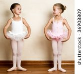 young ballet dancer in a studio ...