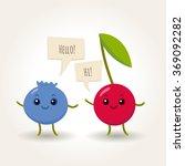 vector set of flat cartoon... | Shutterstock .eps vector #369092282