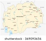 macedonia map | Shutterstock .eps vector #369093656