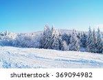 snowy mountain landscape | Shutterstock . vector #369094982