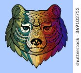 patterned bear's head in the... | Shutterstock . vector #369102752