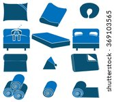 accessories for sleeping blue... | Shutterstock .eps vector #369103565