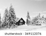 snowy mountain landscape | Shutterstock . vector #369112076