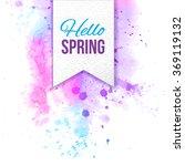 hello spring text badge over... | Shutterstock .eps vector #369119132