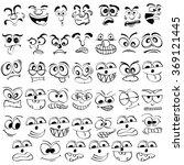 faces   Shutterstock .eps vector #369121445