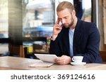 young attractive businessman...   Shutterstock . vector #369124616
