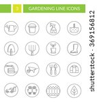 collection of gardening symbols.... | Shutterstock .eps vector #369156812