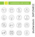 collection of gardening symbols.... | Shutterstock .eps vector #369156812