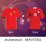 soccer t shirts of spain and... | Shutterstock .eps vector #369157202