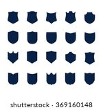 vector shield set | Shutterstock .eps vector #369160148
