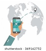 flat design travel app mobile... | Shutterstock .eps vector #369162752