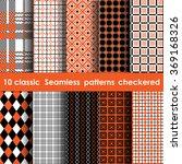 set of 10 classic seamless... | Shutterstock .eps vector #369168326