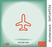 airplane vector icon | Shutterstock .eps vector #369169526