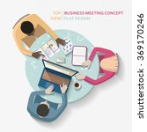 flat vector business meeting ... | Shutterstock .eps vector #369170246