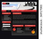 web design template suitable... | Shutterstock .eps vector #36917083
