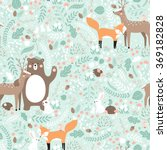 Vector Seamless Pattern  Forest ...