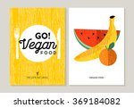 vegan food concept flat designs ... | Shutterstock .eps vector #369184082