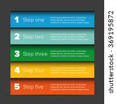 one two three four five steps... | Shutterstock .eps vector #369195872