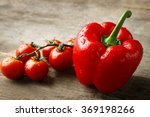 Red Pepper With Tomatoes On...