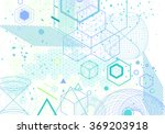 sacred geometry symbols and... | Shutterstock .eps vector #369203918