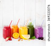 smoothies  juices  beverages ... | Shutterstock . vector #369223376