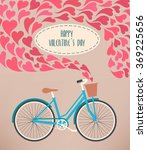 valentine card with bike | Shutterstock .eps vector #369225656