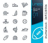 lineo   sports and games line... | Shutterstock .eps vector #369228506