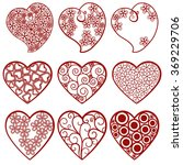 vector hearts set for wedding... | Shutterstock .eps vector #369229706