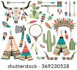 tribal vector   teepee  arrow ... | Shutterstock .eps vector #369230528