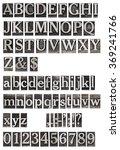 old metal letters alphabet | Shutterstock . vector #369241766
