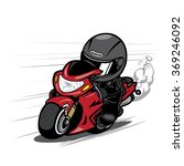 speeding motorcycle racer | Shutterstock .eps vector #369246092