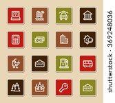 travel web icons set | Shutterstock .eps vector #369248036