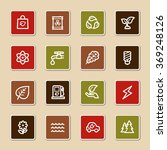 green ecology web icons set | Shutterstock .eps vector #369248126