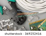 crimper  network cable and... | Shutterstock . vector #369252416