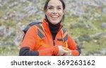 happy vivacious young woman... | Shutterstock . vector #369263162