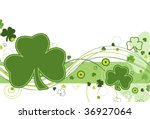 shamrocks and abstract design... | Shutterstock .eps vector #36927064
