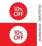 vector 10  off retail sales... | Shutterstock .eps vector #369270752