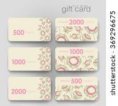 gift coupon  discount card... | Shutterstock .eps vector #369296675