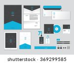 corporate identity template for ...   Shutterstock .eps vector #369299585