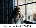 close up portrait of young...   Shutterstock . vector #369304946
