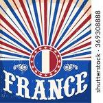 France Vintage Old Poster With...