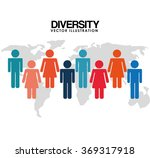 diversity people design  | Shutterstock .eps vector #369317918
