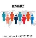 diversity people design  | Shutterstock .eps vector #369317918